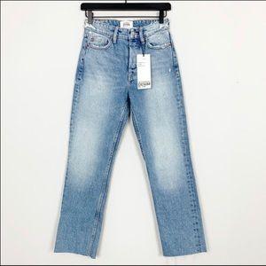 Zara TRF Jeans with Raw Hem